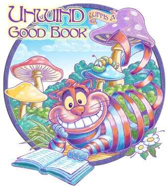 Illustratioin of the Cheshire Cat - Unwind with a good book