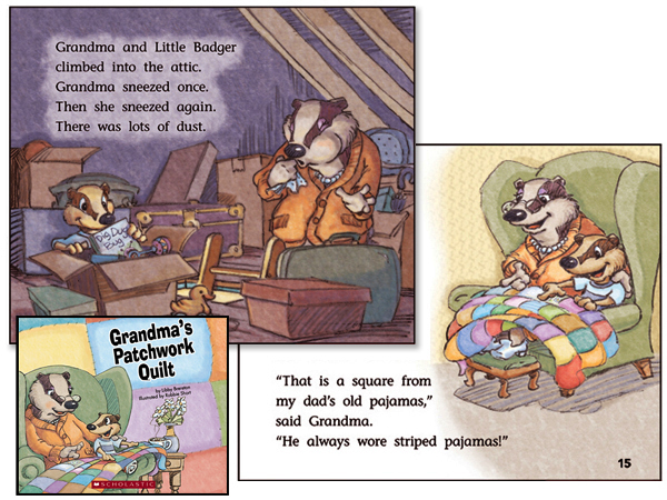 "Illustrations for children's book ""Grandmas's Patchwork Quilt"" for Scholastic"